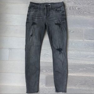 Express High Waisted Black Jeans
